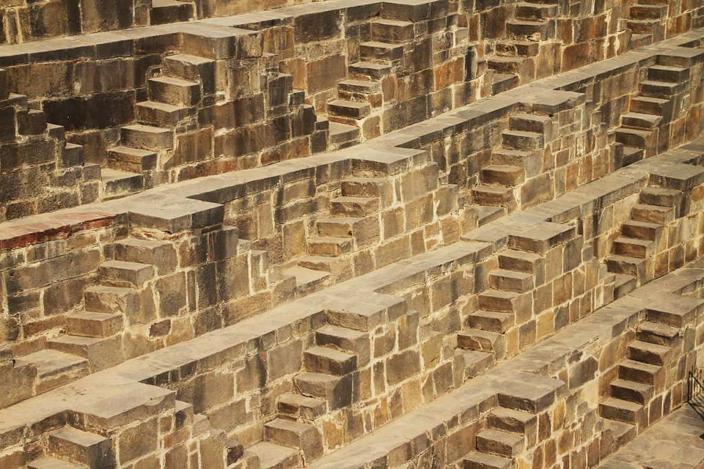 Chand Baori pozo escalonado India